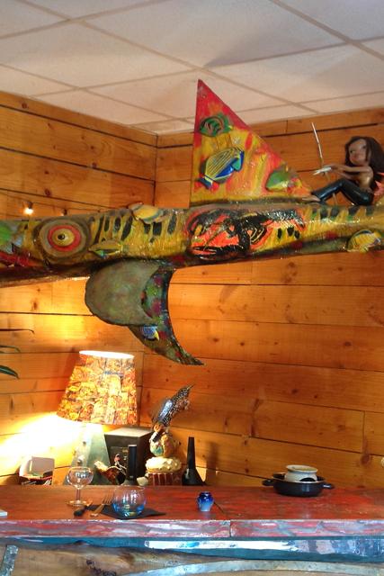 décoration restaurant requin
