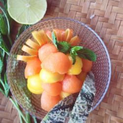 Salade mangue melon menthe