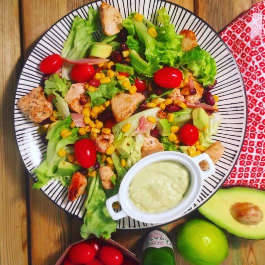 Salade tex mex au poulet