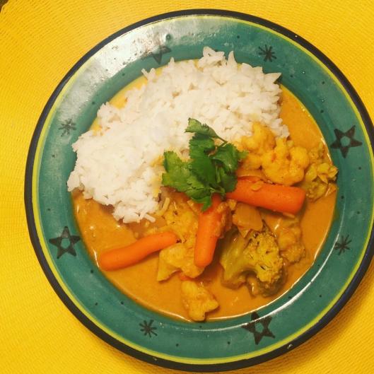 Curry de légumes végétalien