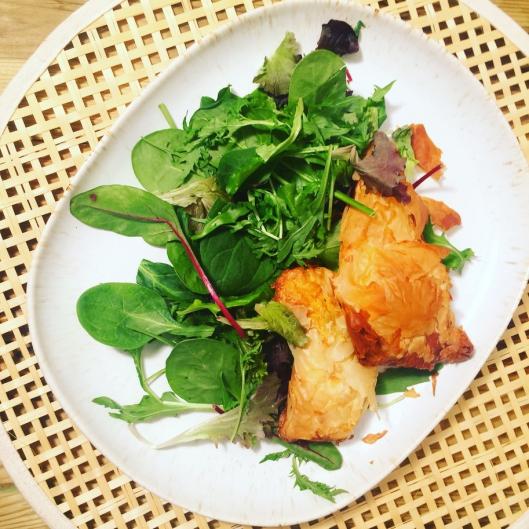 Bricks au Thon et salade mesclun