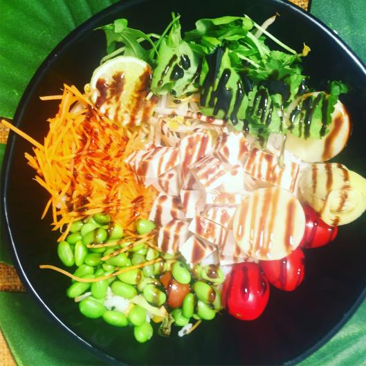 Buddha bowl végan au tofu